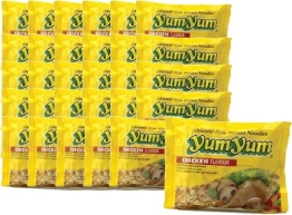 30 x Instant Nudeln mit CHICKEN / HUHN Geschmack - yumyum - asiafoodland Spar-Set inkl. 3 x gratis Real Stevia Sticks (3x2 g) - 1