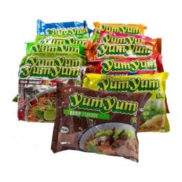 30er Yum Yum Instant Nudelsuppen Mix 1,8kg - 13 Sorten Mix - 1