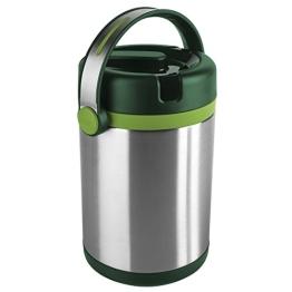 Emsa 512967 Isolier-Speisegefäß, Mobil genießen, 1.7 Liter, Mit 2 Speiseeinsätzen, 100% dicht, Grün/Hellgrün, Mobility - 1