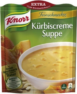 Knorr Feinschmecker Kürbiscreme Suppe, 23 x 2 Teller (23 x 500 ml) - 1