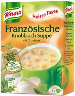 Knorr Heisse Tasse Französische Knoblauch-Suppe mit Croutons, Instant, 3 Tassen - 51gr - 6x - 1