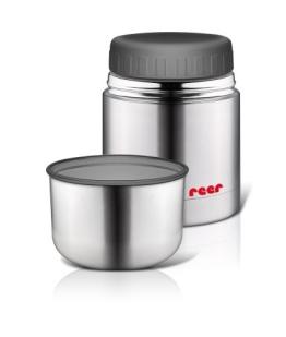 reer 90430 - Edelstahl -Warmhaltebox für Nahrung mit Becher, 350ml - 1