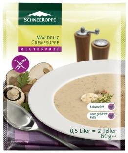 Schneekoppe Waldpilz Cremesuppe, 6er Pack (6 x 60 g) - 1