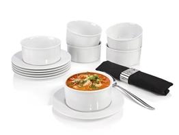Suppenteller Set Porzellan 12tlg. Villeroy & Boch mit Untertassen Salatschalen - 1
