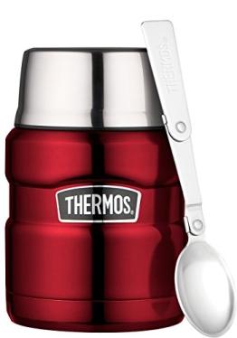 Thermos King Thermoskanne/ Thermosflasche für Lebensmittel,0,47 l, Edelstahl, Rot - 1