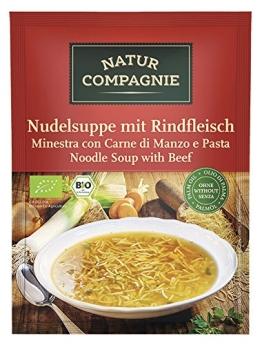 Natur Compagnie Bio Nudelsuppe mit Rindfleisch (2 x 40 gr) - 1