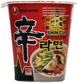 NONG SHIM Instant-Cup-Nudeln; Shin Ramen, scharf, 12er Pack (12 x 75 g) - 1