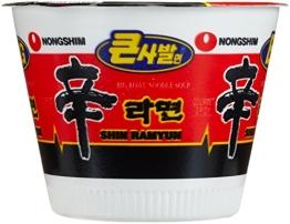 Nong Shim Instantnudeln, Shin Ramyun, Big Bowl, sehr scharf, 16er Pack (16 x 114 g) - 1